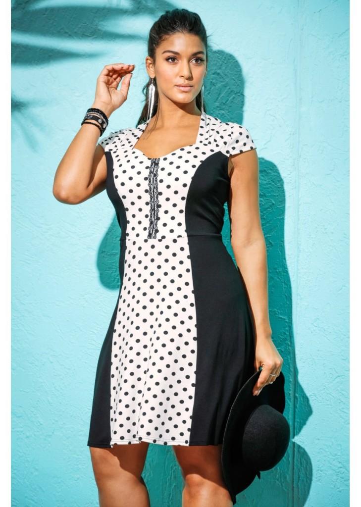 Sukienka w grochy - BonPrix