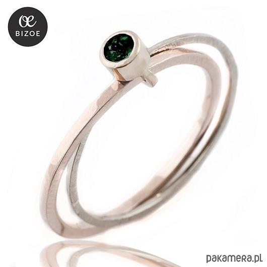 Bizoe, pierścionek z turmalinem - Pakamera