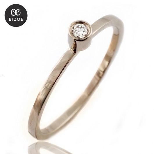Bizoe, pierścionek z brylantem - Pakamera