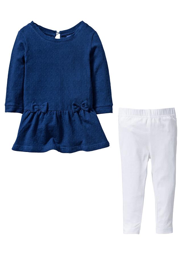 Bluza dresowa w optyce dżinsowej i leginsy - B.P.C.