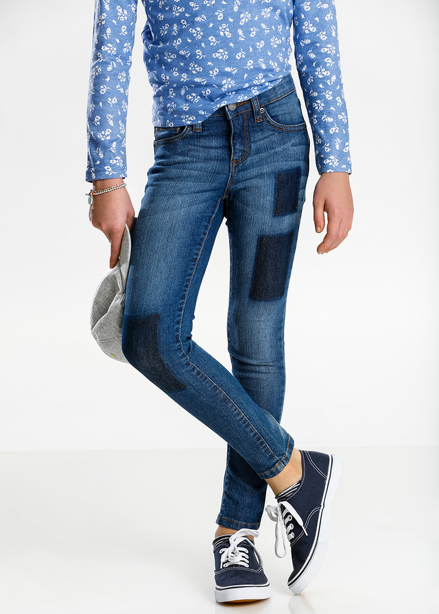 Dżinsy skinny z modnymi łatami - B.P.C.