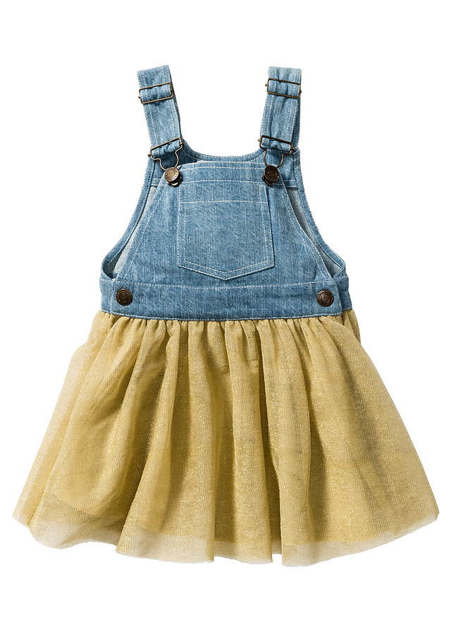 Sukienka ogrodniczka dżinsowa - B.P.C.